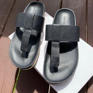 Vince Avani Black Leather Sandal